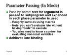 parameter passing in mode
