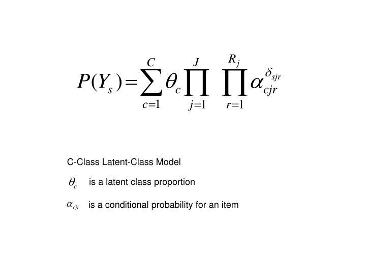 C-Class Latent-Class Model