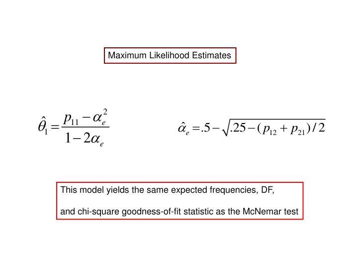 Maximum Likelihood Estimates