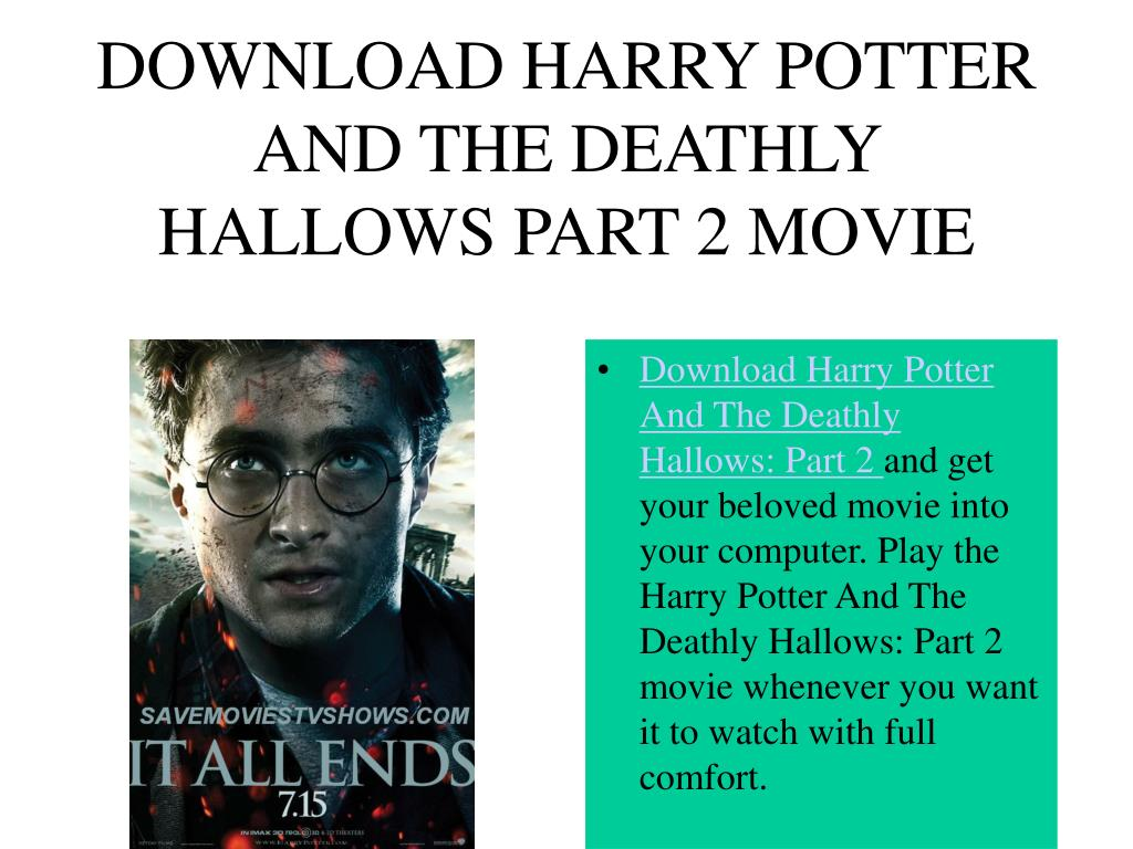 DOWNLOAD HARRY POTTER AND THE DEATHLY HALLOWS PART 2 MOVIE