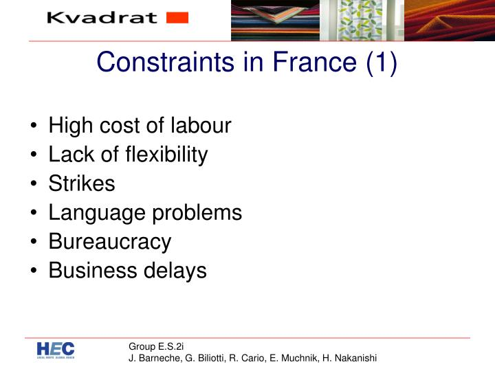 Constraints in France (1)
