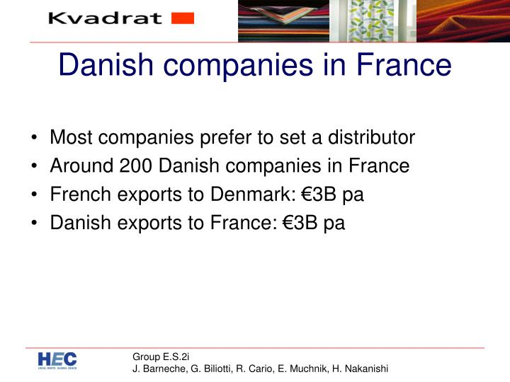 Danish companies in france