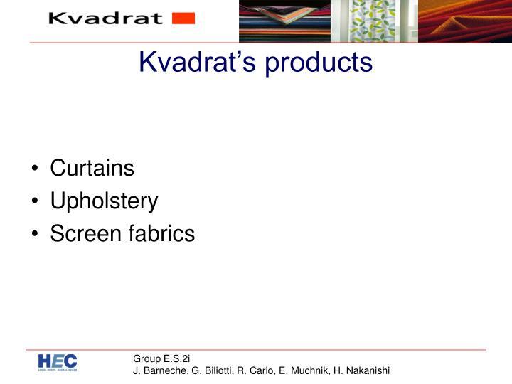 Kvadrat's products