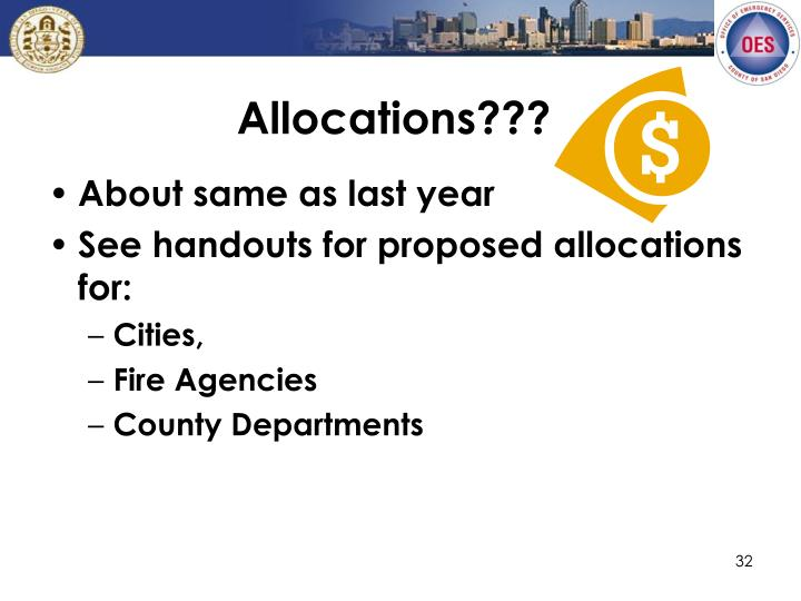 Allocations???