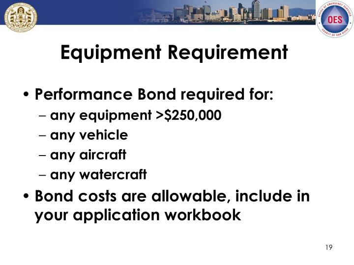 Equipment Requirement