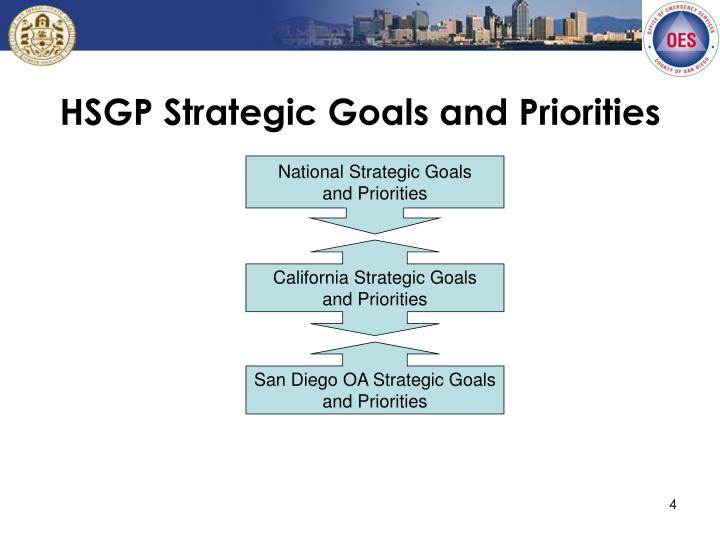 HSGP Strategic Goals and Priorities