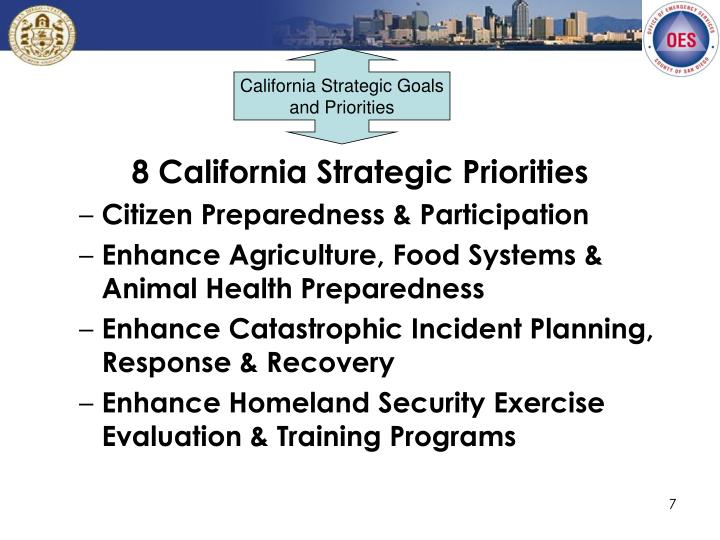 California Strategic Goals