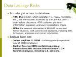data leakage risks