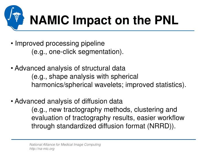 NAMIC Impact on the PNL