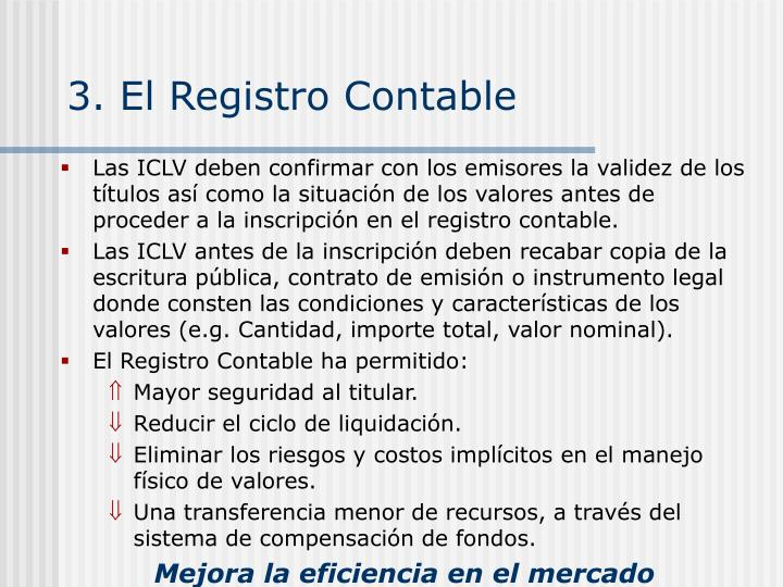 3. El Registro Contable