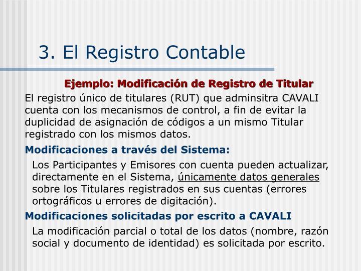 3. El Registro Contable