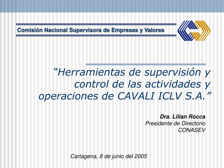 Comisión Nacional Supervisora de Empresas y Valores