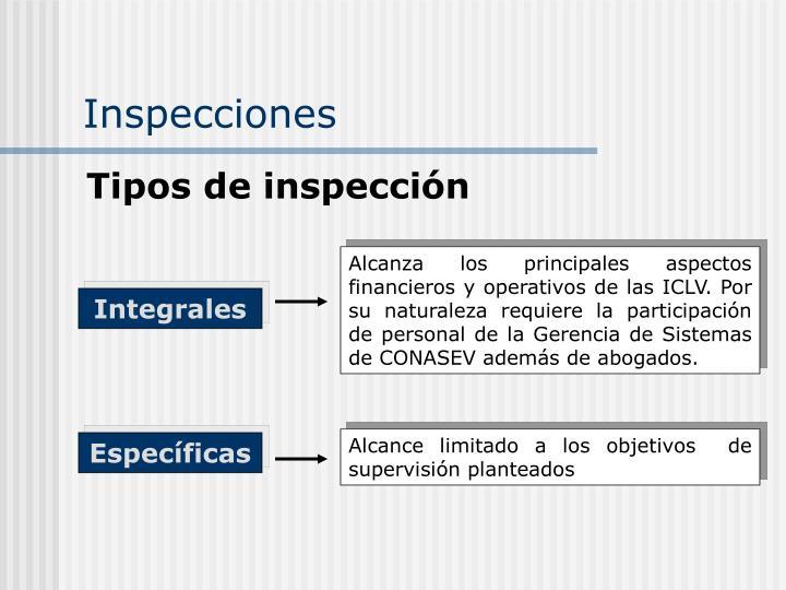 Alcanza los principales aspectos financieros y operativos de las ICLV. Por su naturaleza requiere la participación de personal de la Gerencia de Sistemas de CONASEV además de abogados.