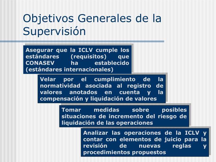 Objetivos Generales de la Supervisión