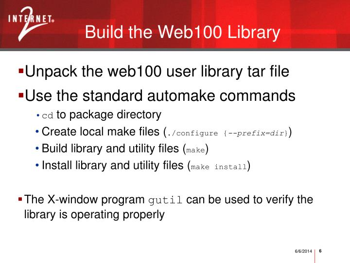 Build the Web100 Library