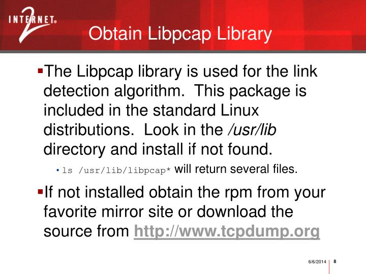 Obtain Libpcap Library
