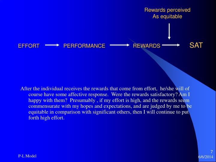 Rewards perceived