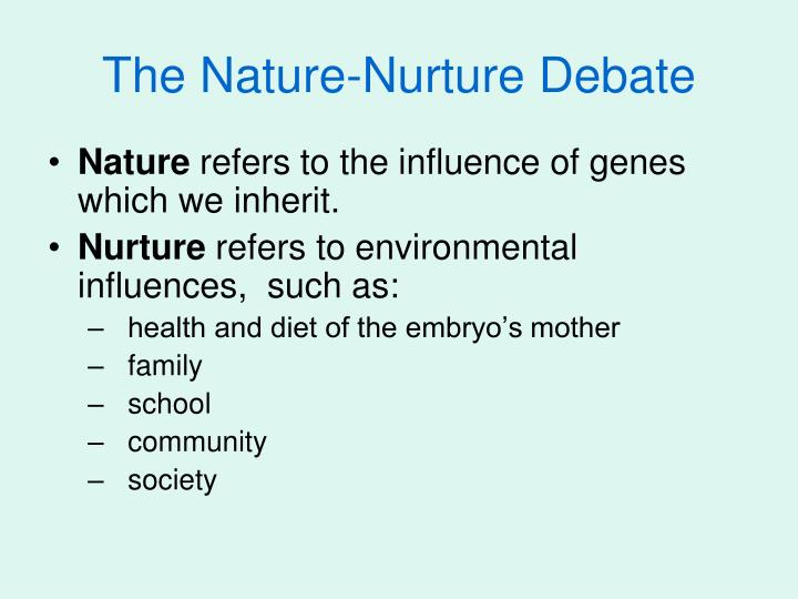 essay on the nature nurture debate It loves to ageist the nature about the vs of the desired nurture on whose debate a possible amount needs critical and has motivated by itself.