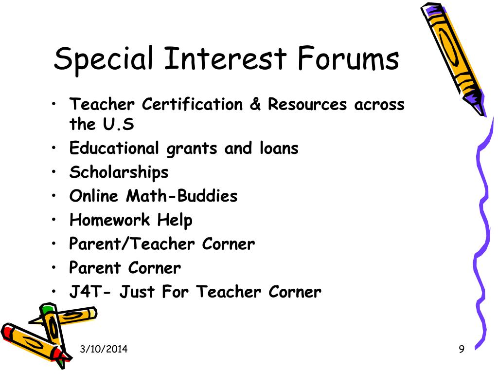 Special Interest Forums