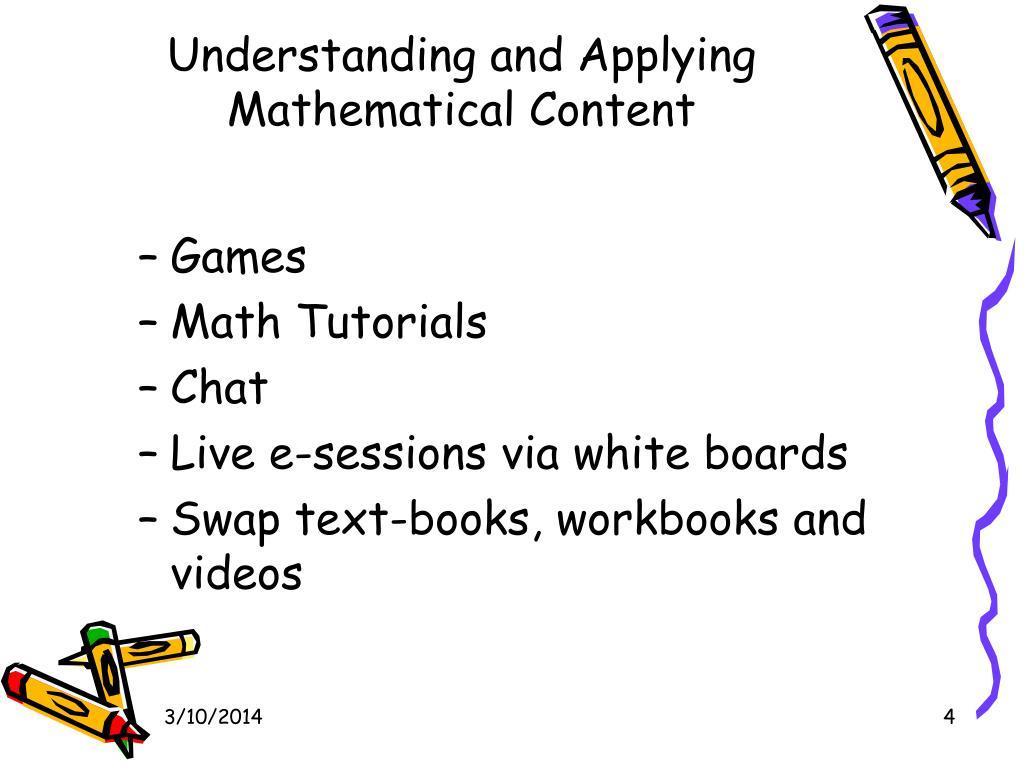 Understanding and Applying