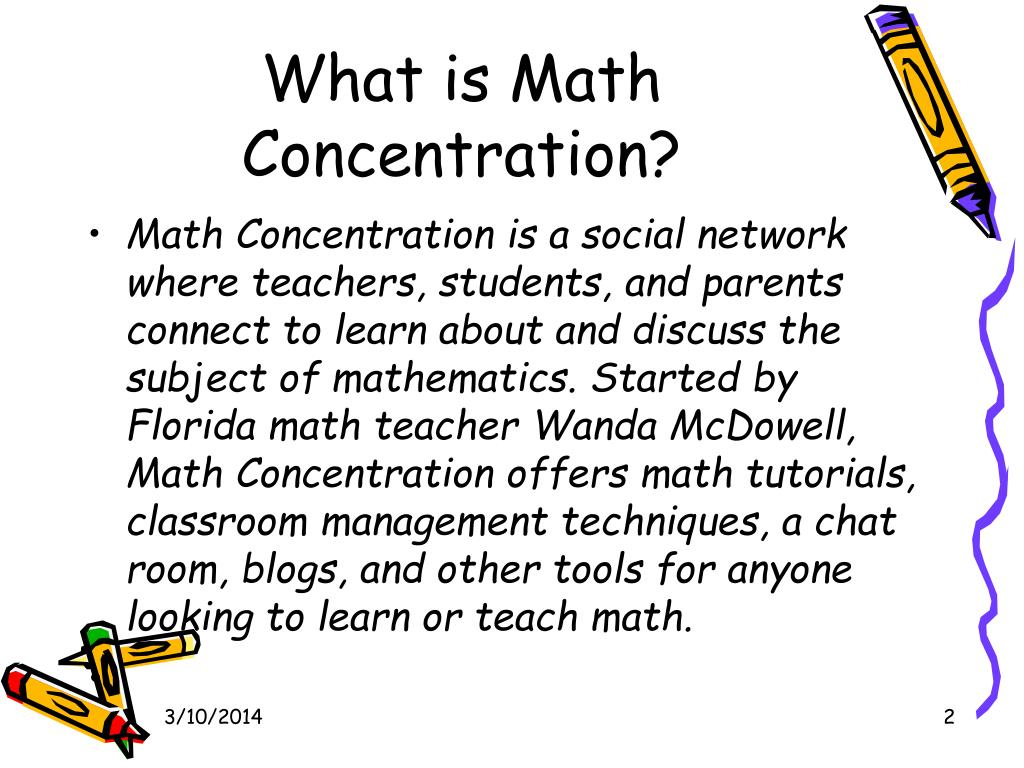 What is Math Concentration?
