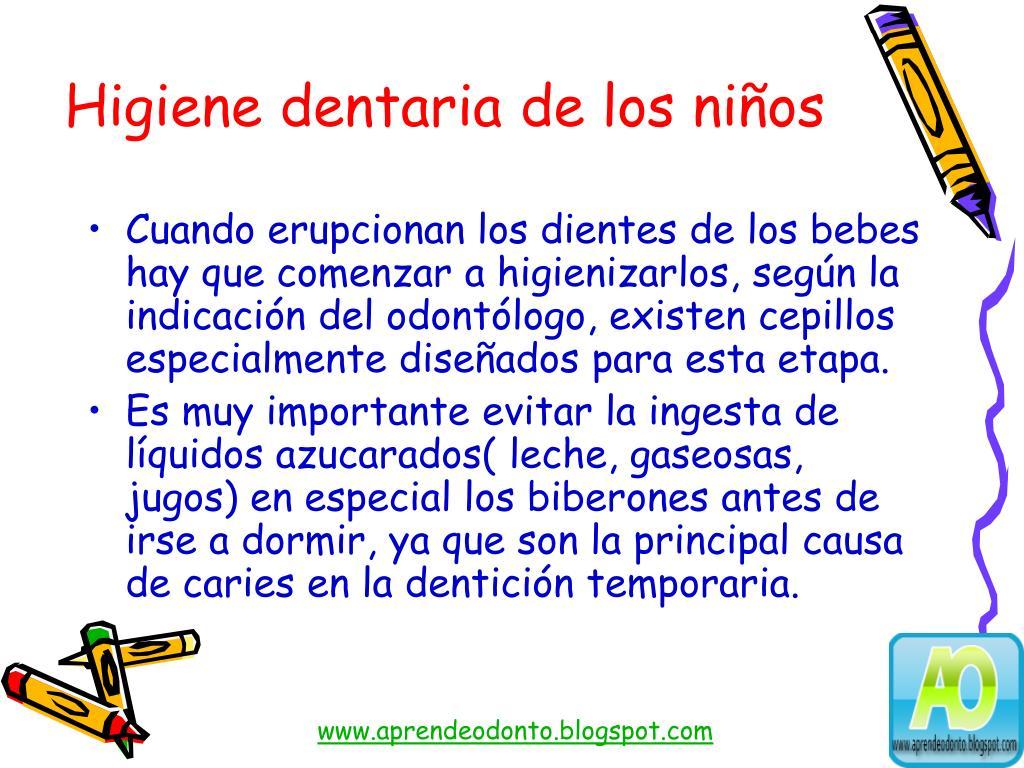 Higiene dentaria de los niños