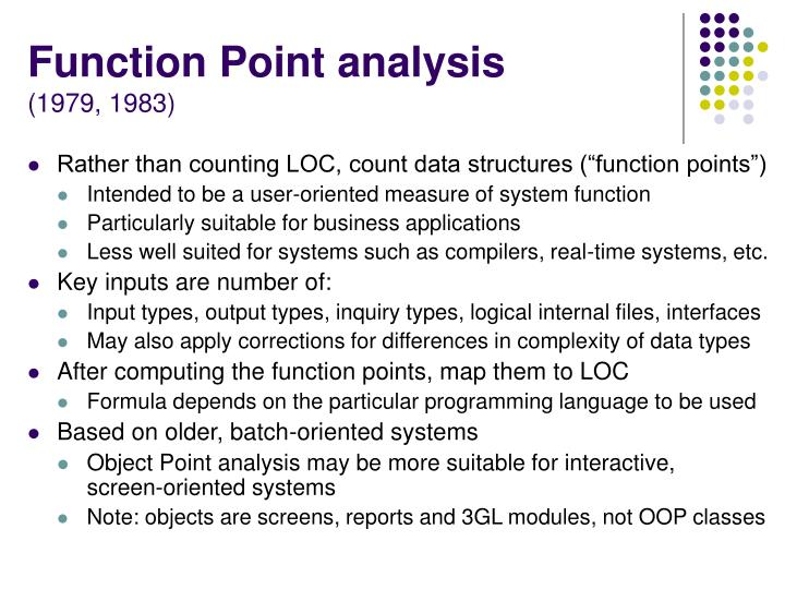 Function Point analysis