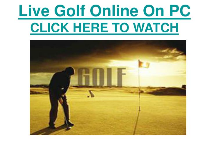 Live Golf Online On PC
