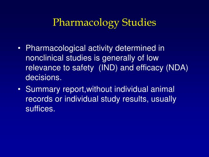 Pharmacology Studies