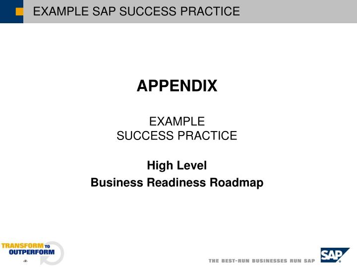 EXAMPLE SAP SUCCESS PRACTICE