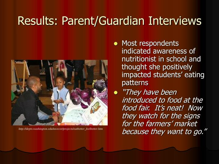 Results: Parent/Guardian Interviews