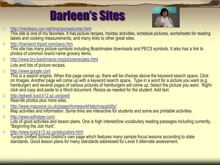 Darleen's Sites