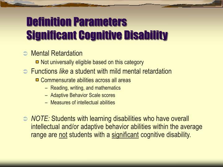 Definition Parameters