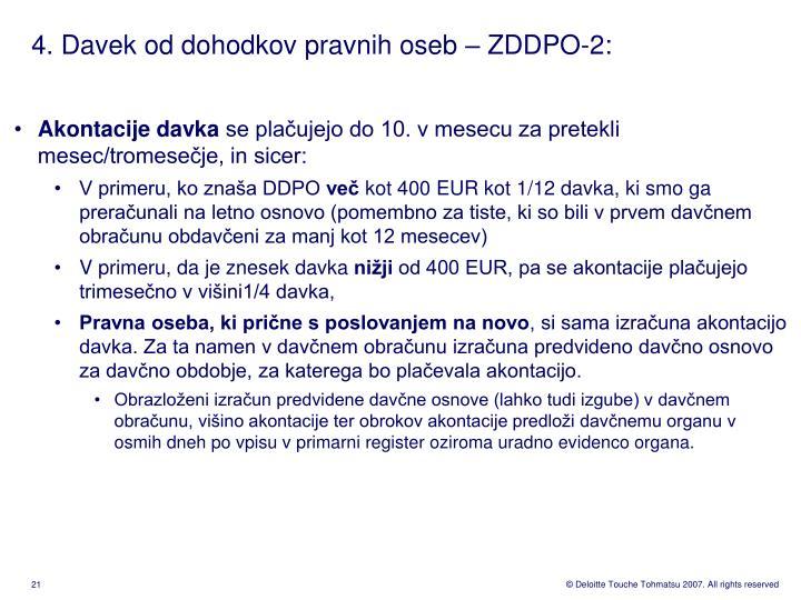 4. Davek od dohodkov pravnih oseb – ZDDPO-2:
