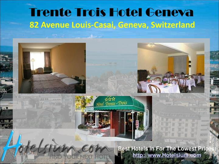 Trente Trois Hotel Geneva