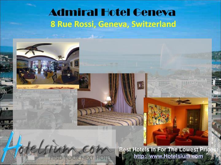 Admiral Hotel Geneva