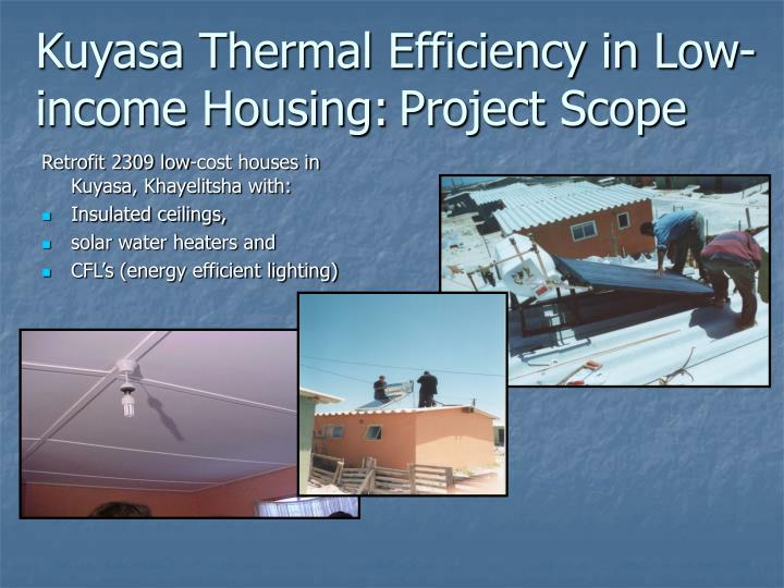 Kuyasa Thermal Efficiency in Low-income Housing: