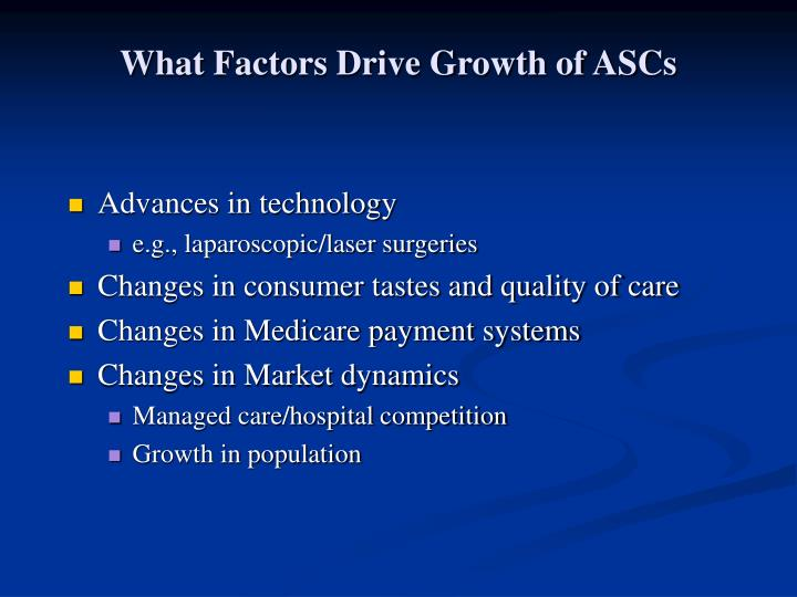 What Factors Drive Growth of ASCs