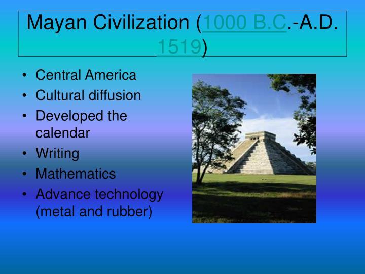 Mayan Civilization (