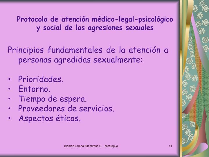 Protocolo de atención médico-legal-psicológico y social de las agresiones sexuales