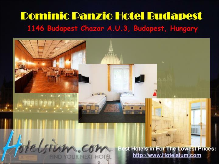Dominic Panzio Hotel Budapest
