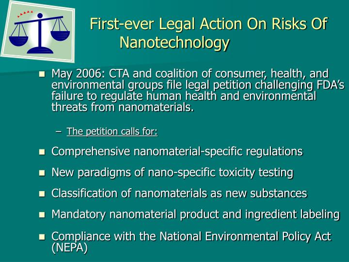 First-ever Legal Action On Risks Of Nanotechnology