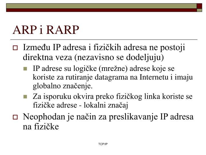 ARP i RARP
