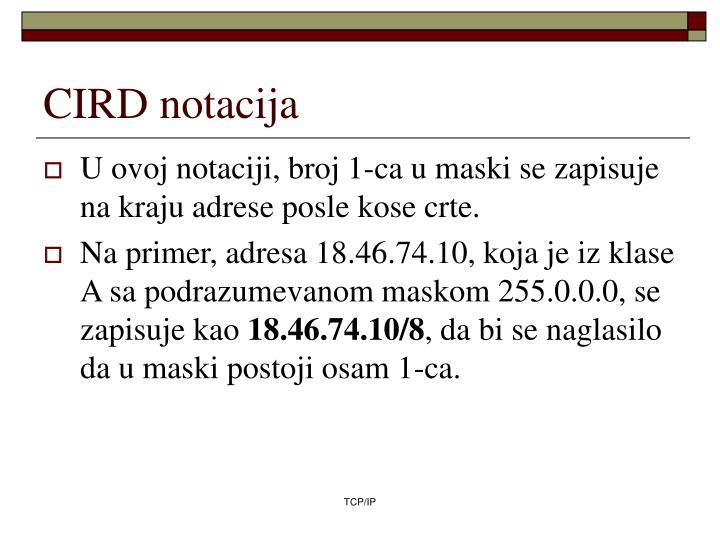 CIRD notacija