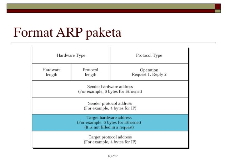 Format ARP paketa