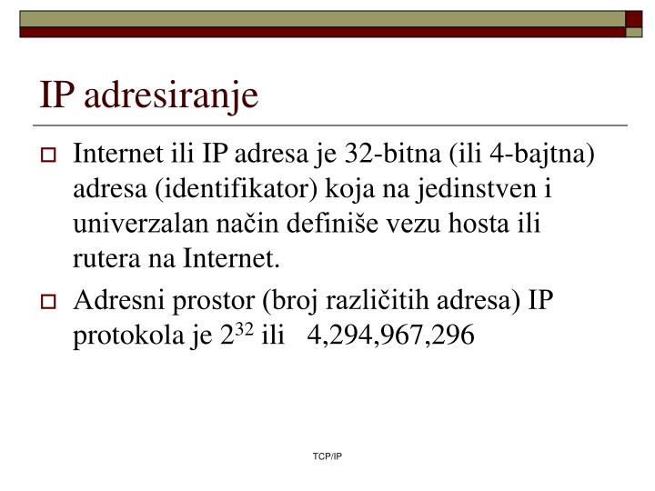 IP adresiranje