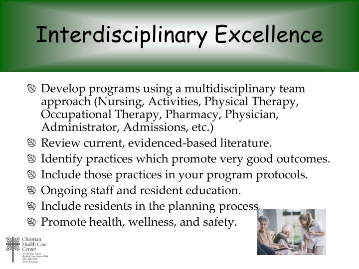 Interdisciplinary Excellence