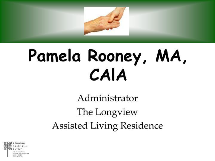 Pamela Rooney, MA, CAlA