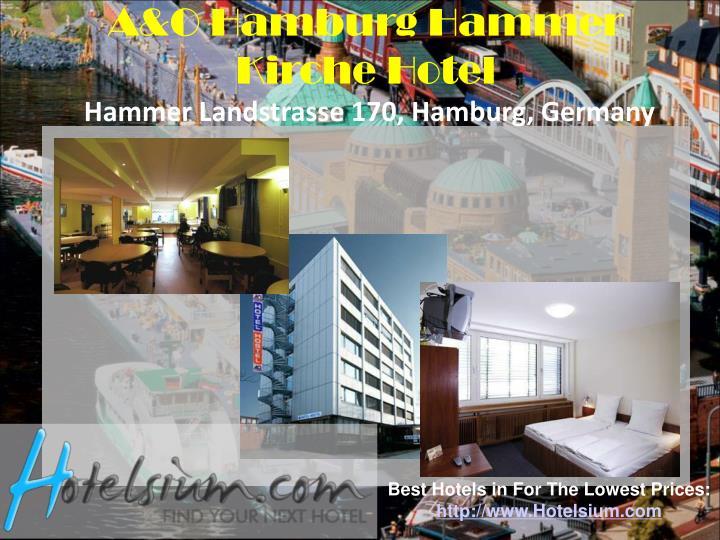 A&O Hamburg Hammer Kirche Hotel