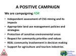 a positive campaign